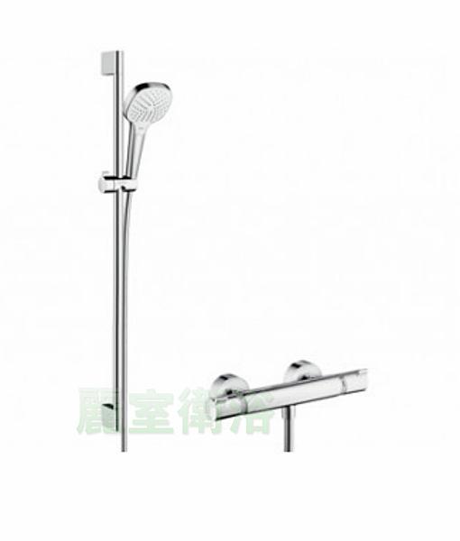 【麗室衛浴】德國 HANSGROHE 27082-40 VARIO 升降桿 90CM + 定溫淋浴龍頭組