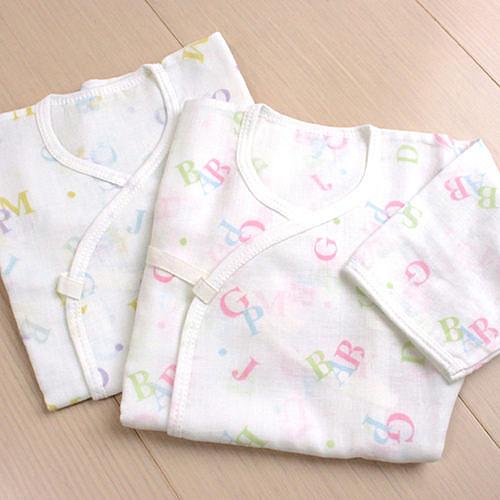 GMP BABY 舒適字母純棉紗布肚衣~2件組