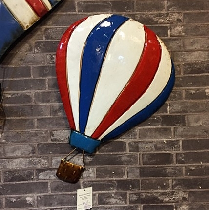 [協貿國際]美式鄉村復古創意鐵藝熱氣球壁飾B1入