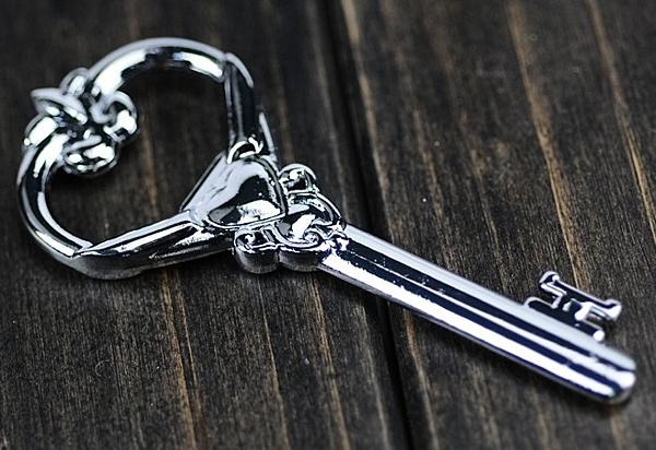 【協貿國際】愛心合金鑰匙造型開瓶器(3入)