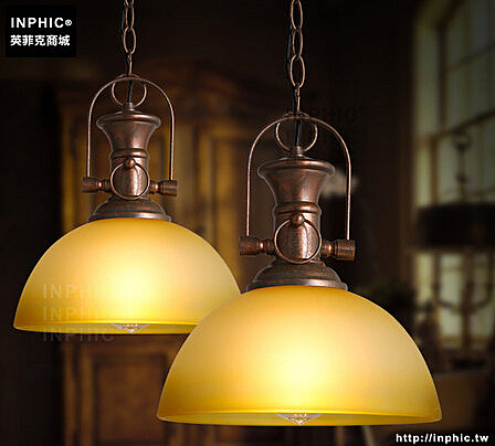 INPHIC- 工業個性創意單頭復古水晶玻璃燈飾咖啡酒吧燈玻璃吊燈_S197C
