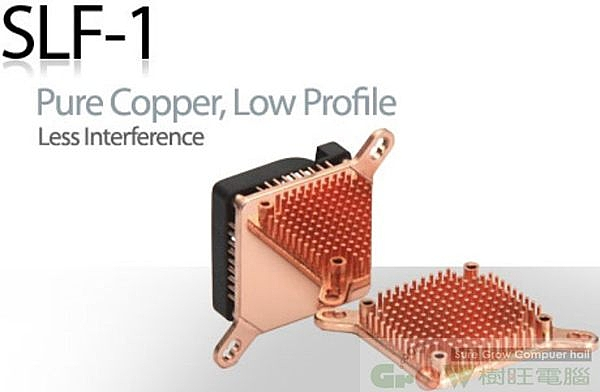Enzotech SLF-1高效能晶片組散熱片(含風扇)~高密度鍛造銅