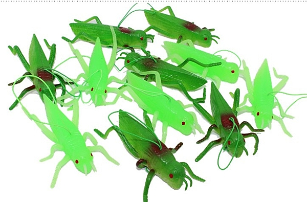 [協貿國際]仿真蝗蟲模型玩具兒童禮物軟膠材質螞蚱動物昆蟲玩偶道具2入