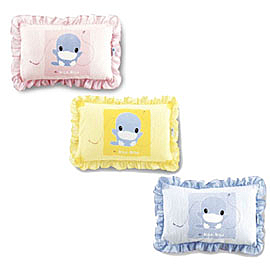 KU KU 酷咕鴨 荷葉邊中童兩用枕(粉/藍/黃)【佳兒園婦幼館】