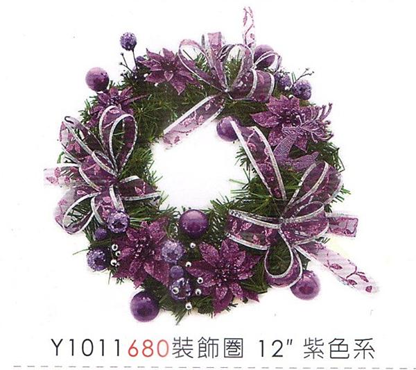 聖誕裝飾圈12吋 聖誕節 聖誕襪聖誕帽聖誕燈聖誕金球聖誕服聖誕蝴蝶結花