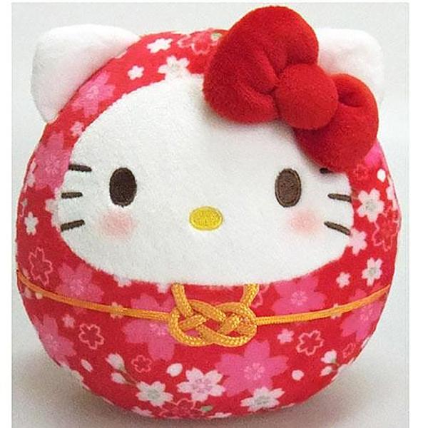 【凱蒂貓達摩娃娃】凱蒂貓 櫻花 新年 達摩娃娃 紅 日本正品 該該貝比日本精品