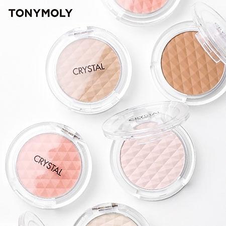 韓國 TONYMOLY CRYSTAL 水晶潤色修容餅 打亮 修容 腮紅餅 腮紅 粉餅 修容餅