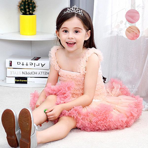 吊帶禮服蓬蓬紗裙洋裝 童裝 連身裙 裙子 蓬蓬裙