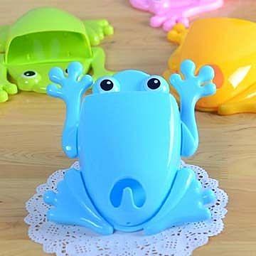 青蛙造型牙刷架套裝 創意牙膏架 收納桶 置物收納架【現貨+預購  不挑款出貨】