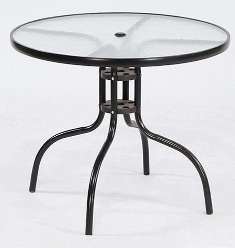【 IS空間美學】休閒玻璃圓桌