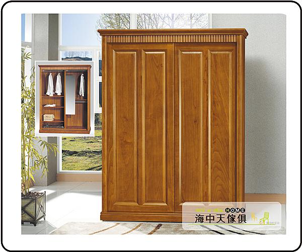 {{ 海中天休閒傢俱廣場 }} G-42 摩登時尚 衣櫥系列 427-1 楠檜柚木色5.5x7尺衣櫥