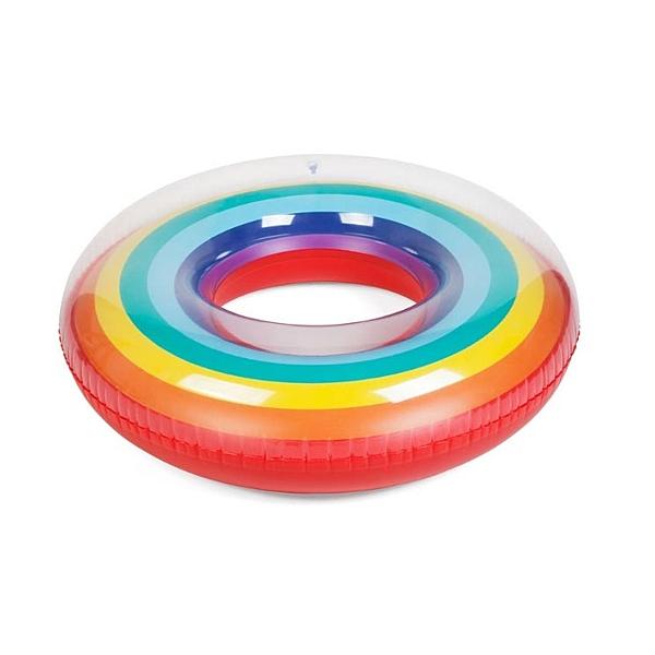 預購★0620-08游泳圈加厚大人成人兒童彩虹可愛腋下圈游泳小孩救生圈初學者 (加大號#120)