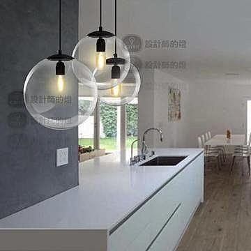 歐式餐廳吧台單頭 簡約玻璃球吊燈