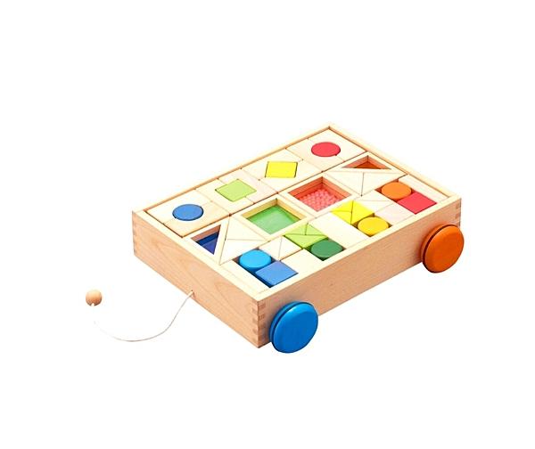 《 日本 Ed.Inter 》知育積木手拉車╭★ JOYBUS玩具百貨