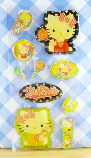 【震撼精品百貨】Hello Kitty 凱蒂貓~KITTY閃亮貼紙-糖果