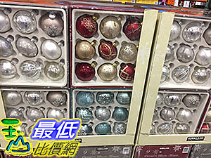 [COSCO代購] KIRKLAND SIGNATURE 9PC GLASS ORNAMENTS 科克蘭聖誕樹裝飾球9入 _C998721