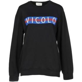 《セール開催中》VICOLO レディース スウェットシャツ ブラック one size コットン 100%
