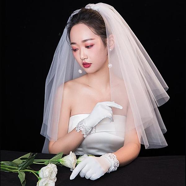 新娘結婚紗頭紗寫真旅拍自拍頭紗