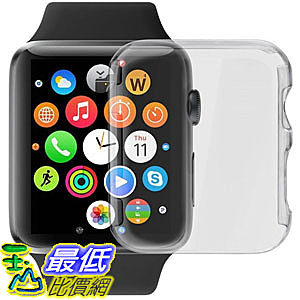 [106美國直購] 手錶保護殼 GBSELL Ultra-Slim Cystal Clear PC Hard Protective Cover Apple Watch 42mm