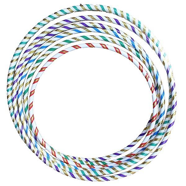 呼啦圈 6號雷射晶晶彩虹呼拉圈 (小彩帶)/一個入{促100} 直徑71cm~台灣製造~4710894914579