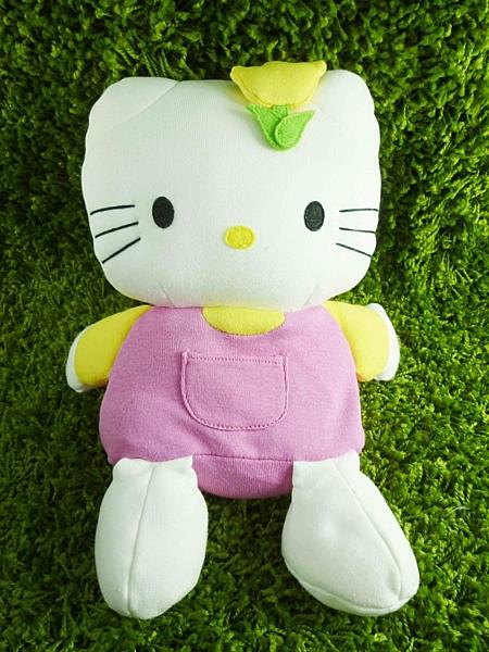 【震撼精品百貨】Hello Kitty 凱蒂貓~KITTY絨毛娃娃-鬱金香圖案