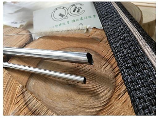 台灣QC SUS316L安心戳細(C)直粗(Q)組/日本鋼材/醫療級/不鏽鋼吸管/環保吸管/下端口曲線/100%台灣製造