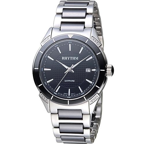 F1207T02 寶時鐘錶  麗聲錶 RHYTHM 天使之心陶瓷腕錶