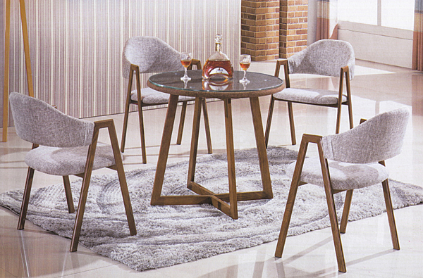 【IS空間美學】風彩鐵藝A字造型桌椅組 一桌四椅