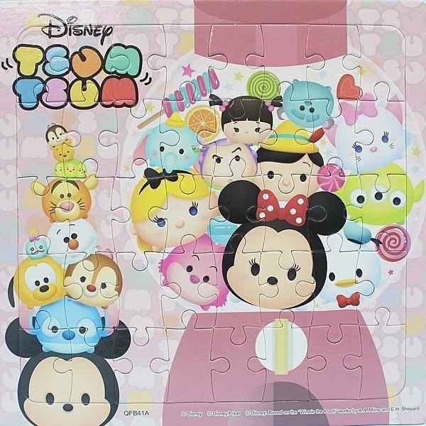Disney Tsum Tsum 小40片拼圖 QFB41A-C/一個入(促80) 可愛拼圖-京甫 根華正版授權 MIT製