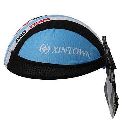 自行車頭巾 防曬-時尚個性黑藍拚色設計男女單車運動頭巾73fo65【時尚巴黎】