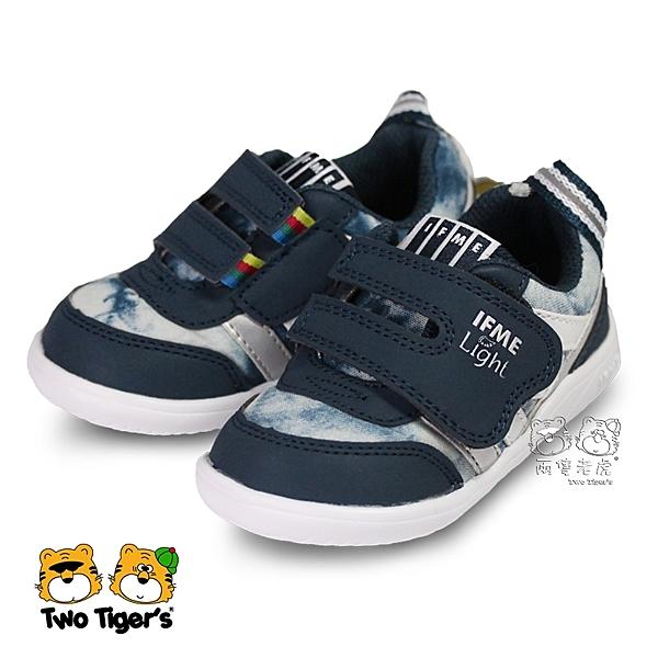 日本 IFME light 輕量系列 深藍 魔鬼氈 小童鞋 NO.R3580