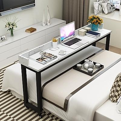 簡約筆電桌床上用跨床桌多功能可行動懶人床邊雙人台式書桌WY