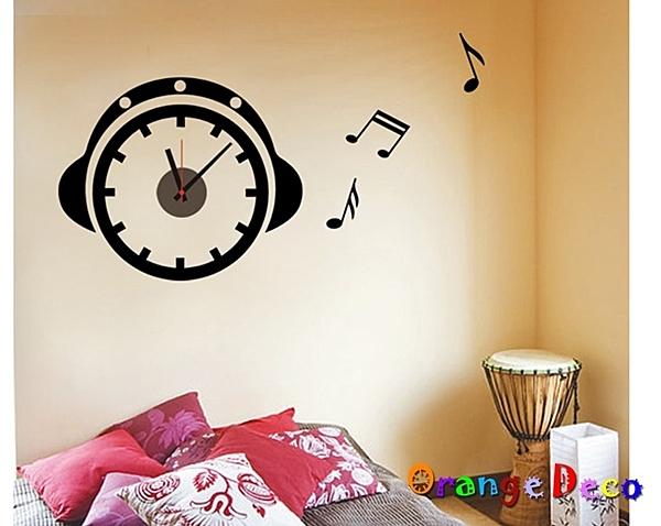 壁貼【橘果設計】音符 靜音壁貼時鐘 不傷牆設計 牆貼 壁紙裝潢