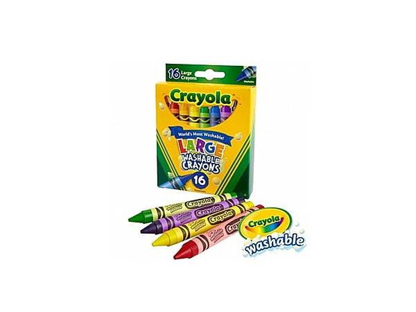 小饅頭**繪兒樂 Crayola可水洗大蠟筆16色(071662032814)*定價199元
