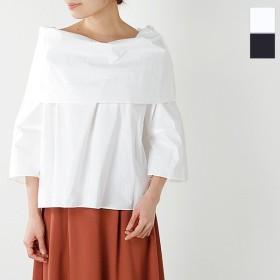 Liyoca リヨカ コットンタイプライターオフショルプルオーバーシャツ e8103 レディース
