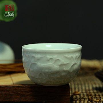 浮雕花紋品茗杯子