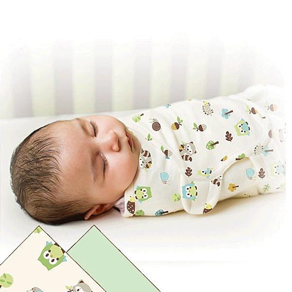 《美國Summer infant》聰明懶人純棉包巾-加大(貓頭鷹兩入組) ㊣原廠授權總代理公司貨