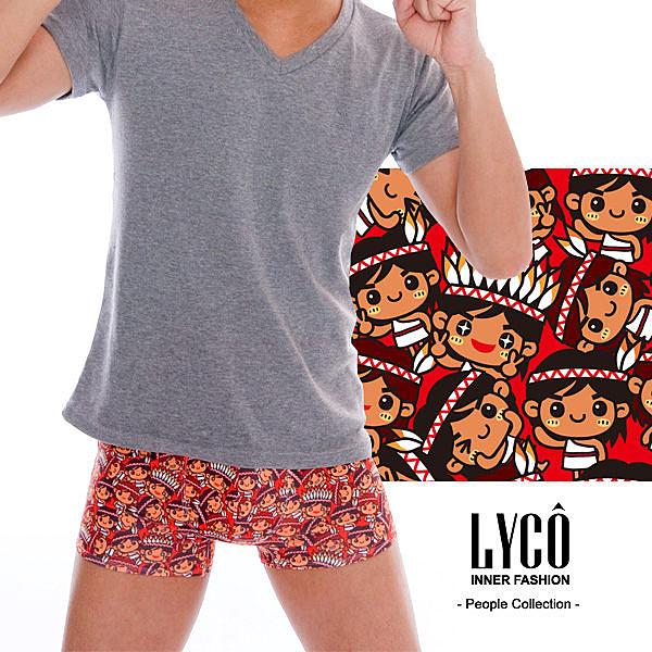 LYCO男內褲‧小紅人平口褲