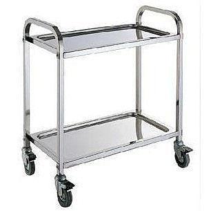 二層不鏽鋼方管餐車