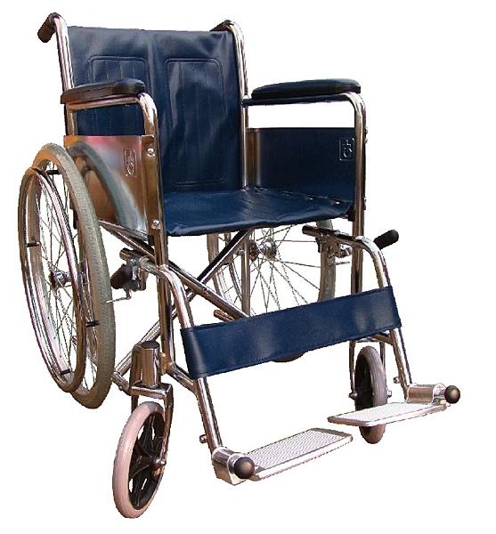 富凱源機械式輪椅(未滅菌) ( 鐵製電鍍輪椅 CP2)