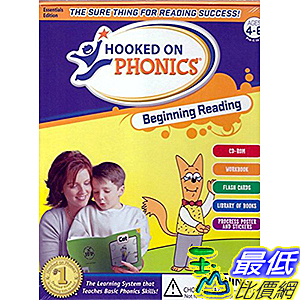 [106美國直購] 2017美國暢銷軟體 Hooked on Phonics Beginning Reading Ages 4-6