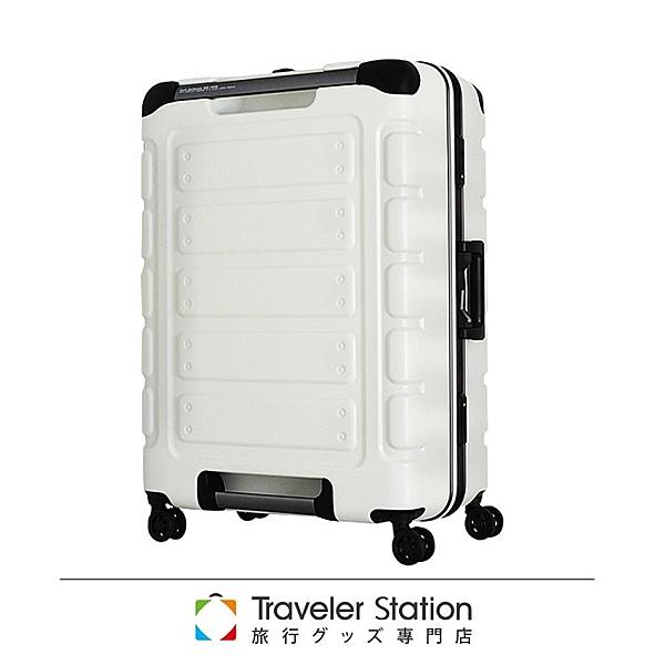 【Traveler Station】日本設計 27吋 PC 鋁框 超靜音輪 白 輕量 行李箱/旅行箱