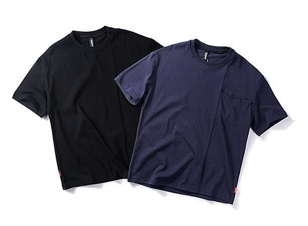 FINDSENSE MD 韓國  時尚休閒 潮 男 素面純色 口袋 個性T恤 短
