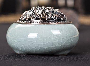 龍泉青瓷陶瓷仿古純銅沉香爐06