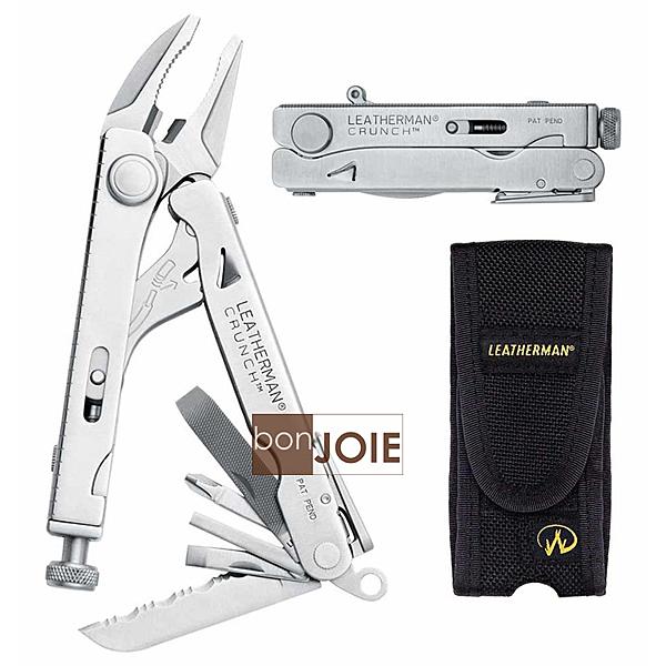 ::bonJOIE:: 美國進口 Leatherman Crunch Pocket Multi-Tool 萬用工具 (含尼龍保護套) 多功能 露營用品 工具鉗