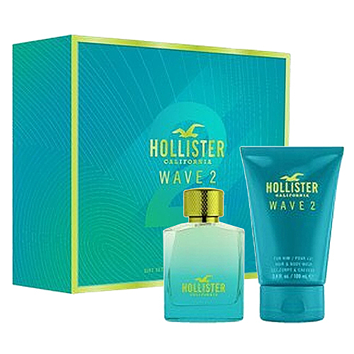 【HOLLISTER】WAVE2 陽光 男性淡香水 禮盒 (淡香水100ml+髮浴乳200ml)