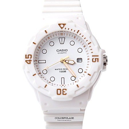 CASIO卡西歐 運動白色女膠錶【NEC9】原廠公司貨