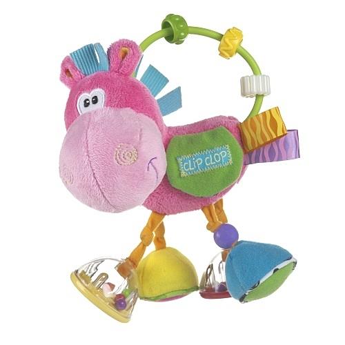 【愛吾兒】Playgro 粉紅小馬搖鈴 吊掛玩具