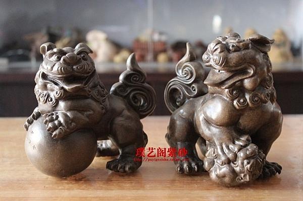 【協貿國際】擺件貔貅紫砂茶寵麒麟(一對)
