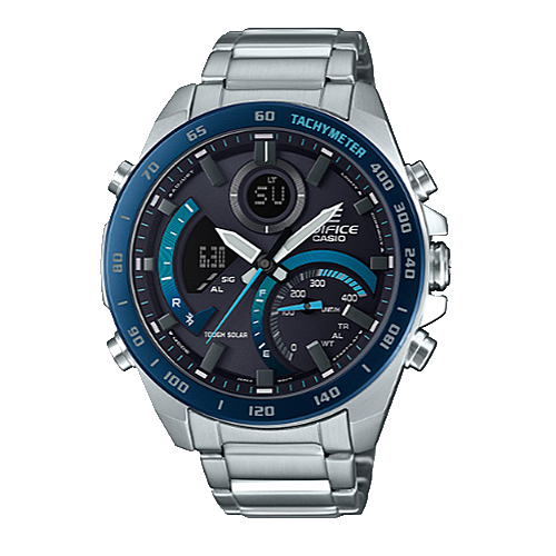 CASIO手錶專賣店 EDIFICE ECB-900DB-1B 賽車雙顯型男錶 太陽能 智能手機連接 防水100米 ECB-900DB